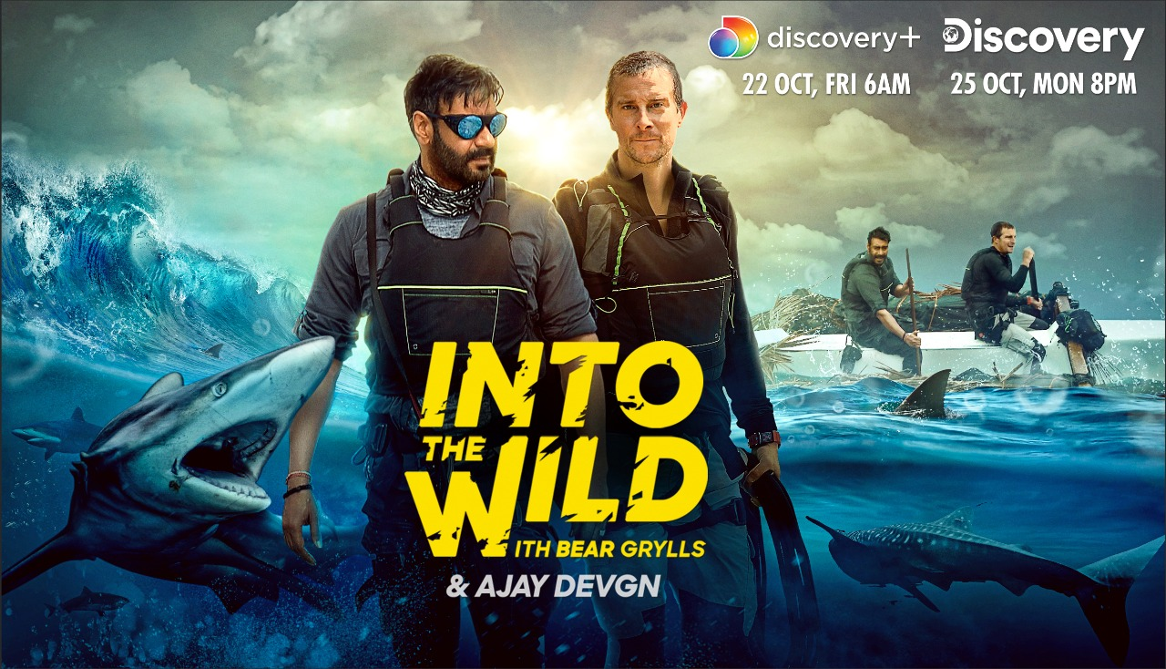Into the Wild with Bear Grylls with Ajay Devgn on discovery+ and Discovery